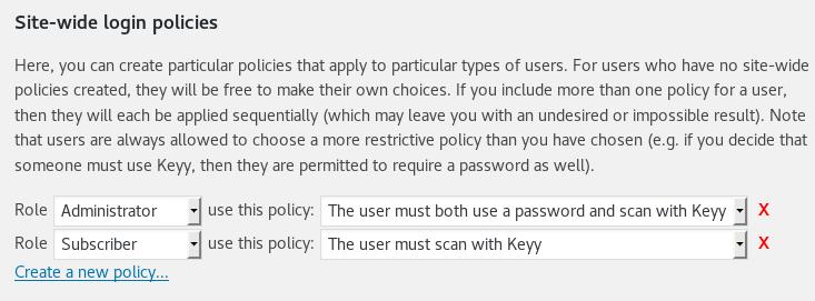 Setting Keyy policies