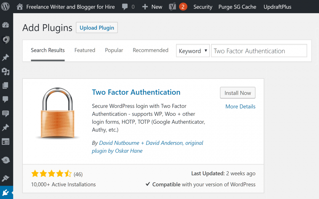 Two factor authentication – the two simplest and best ways to enable it for WordPress